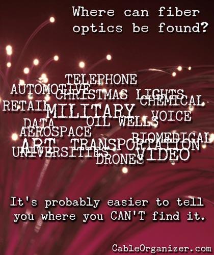 where are fiber optics used?