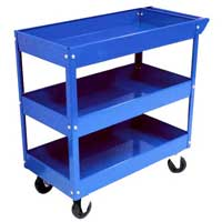 Tray Rolling Metal Tool Cart