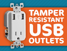 tamper resistant usb receptacle