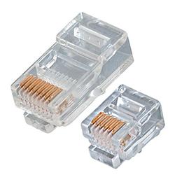 Network Cable Connectors Cat5 Cat6 Rj45 Fiber Optics