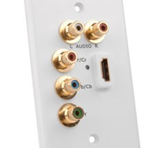 A/V Wall Plates, Modular Inserts