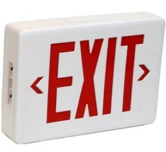 exit sign, emergency exit sign, emergency lighting
