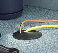 floor grommet, grommet in the floor, cables through floor