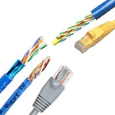 network data/voice and ethernet cables