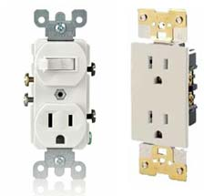 electrical receptacles, power outlets, electrical outlets