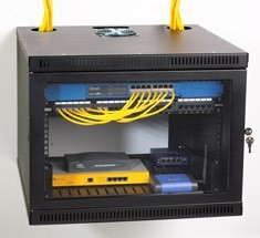 wall mount racks and ceiling boxes