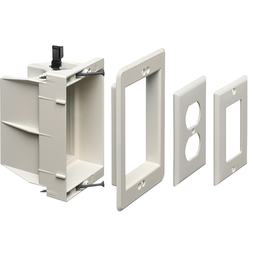 Arlington Industries Single and Dual Gang Recessed Electrical Boxes