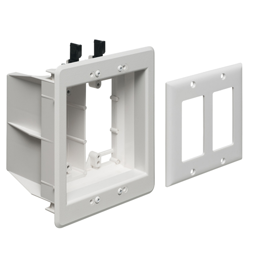 Recessed Multiple Gang TV Box for Power and Low Voltage