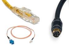 cat5e, cat6, cat6a, fiber optic, audio/video