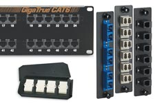 Black Box fiber optic adapter panels, rackmount patch panels