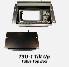 T3U-1 Tilt Up Table Top Box