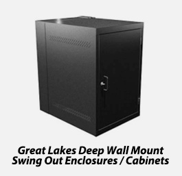 Deep wall mount swing out enclosure/cabinets