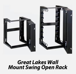 Mount swing open rack