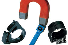 cable ties, snapper clamps, edge clips