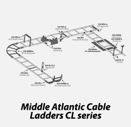 Middle atlantic cable ladders cl series