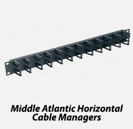 Middle atlantic horizontal cable managers