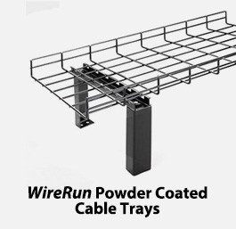 Wirerun Powder Coated Cable Tray