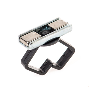 Pipe Mount Cable Mount Holder - Black/Silver