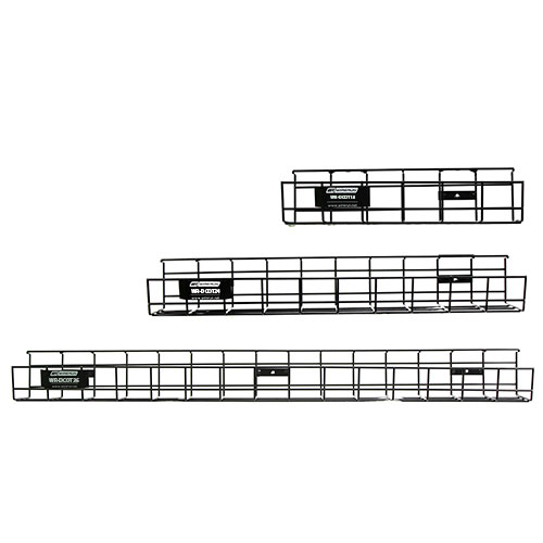 """14"""" 24"""" and 36"""" WireRun Desk Cable Trays"""