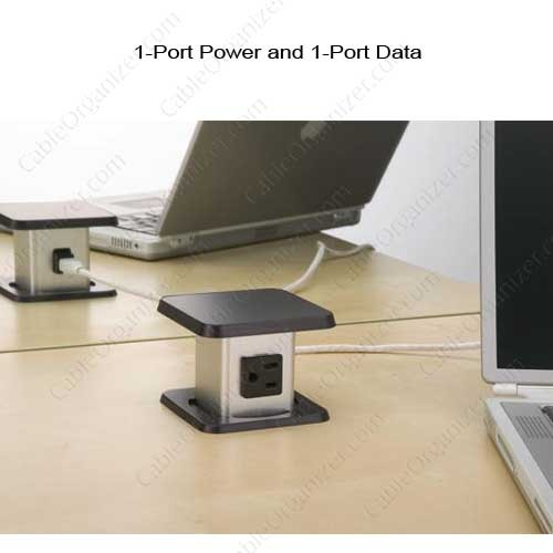 1-Port Power and 1-Port Data Outlet application  - icon
