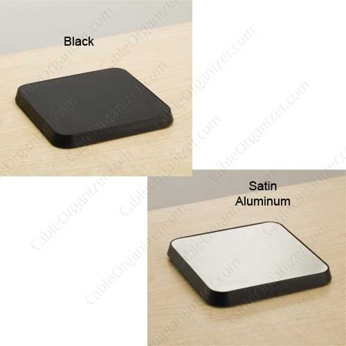 Desk Outlet Black and Satin Aluminum finish - icon
