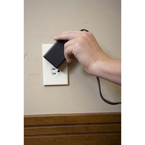 Rotating a power adapter in the 360 Electrical outlet icon