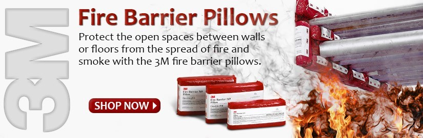 3M Fire Barrier Pillows help stop the spread of fire & smoke