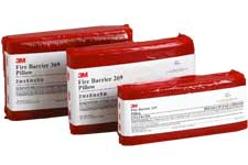 3M Fire Barrier pillows and composite sheets