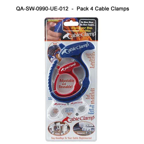 Cable Clamps, package of four