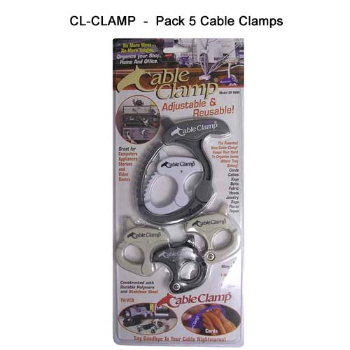 Cable Clamps, package of five