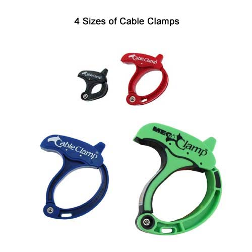 Cable Clamps, assorted sizes and colors