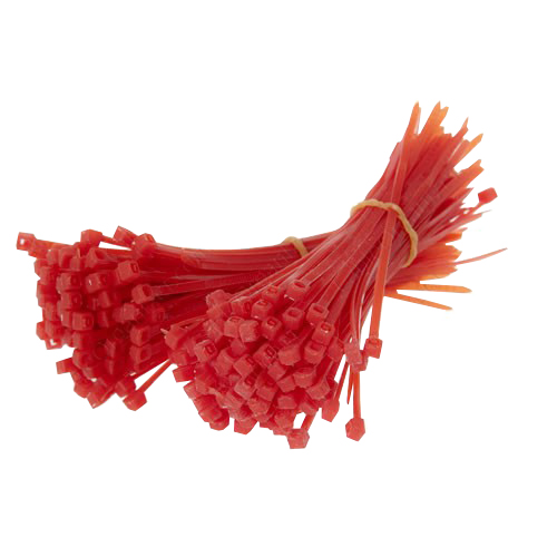 Red cable ties - icon