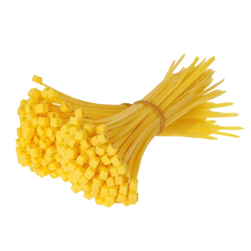 Yellow cable ties - icon