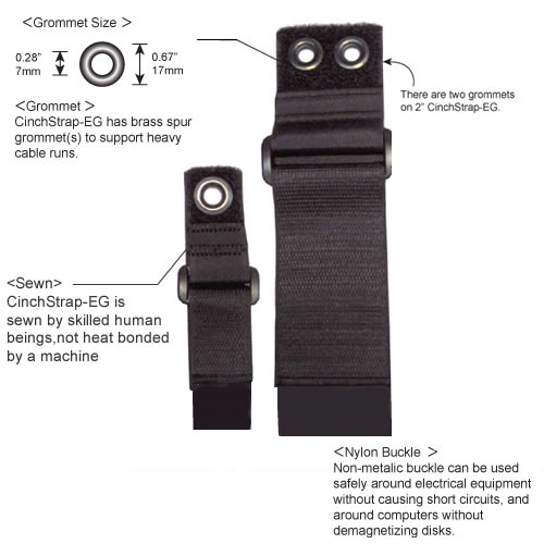 different sizes of CinchStrap EG