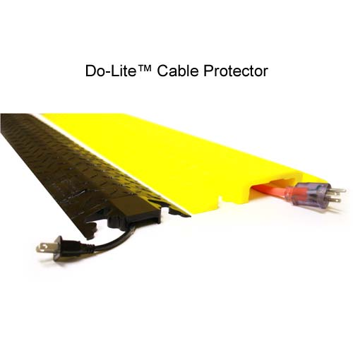 do-lite drop over cable protector in black and yellow - icon