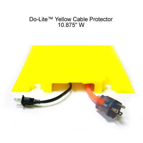do-lite drop over cable protector in yellow - icon