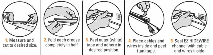 instructions to use EZ Hidewire
