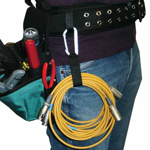 Cable Carrier Aluminum carabiner in use