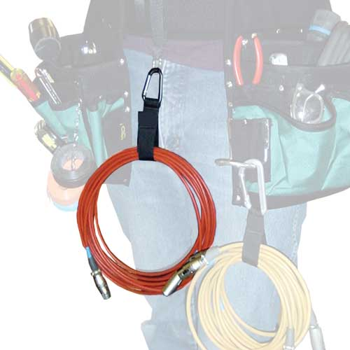 Cable Carrier Aluminum triangle carabiner in use