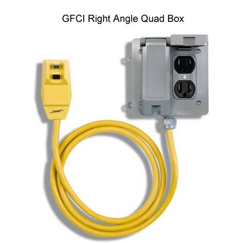 Southwire ShockShield GFCI right angle Quad Box Receptacle icon
