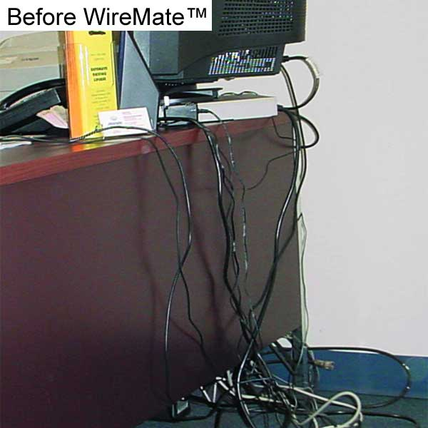 Messy behind desk cables without WireMate Cord Organizer - icon