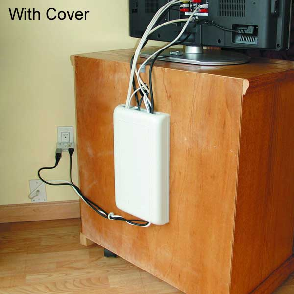 WireMate Cord Organizer behind TV stand application image - icon