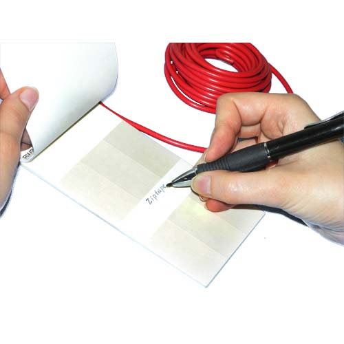 User labeling a write on wire marker icon