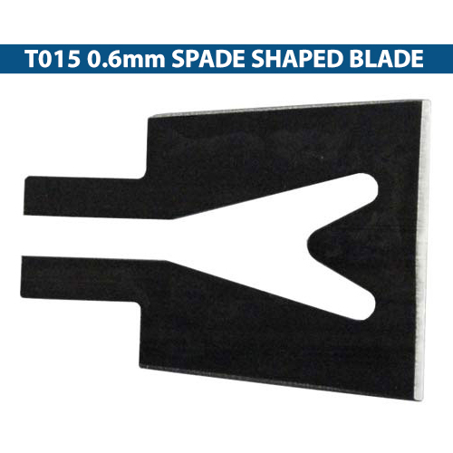 Replacement T015 0.6 millimeter spade shaped Blade for Thermocutter icon
