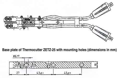diagram of Thermocutter mounting