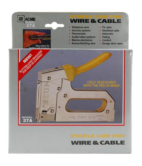 Acme 37A Broadband Cable and Wire Staple Gun in package - icon