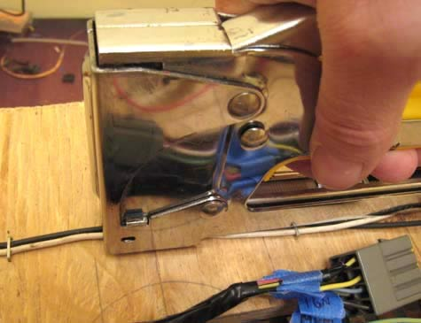 Acme Broadband Cable and Wire Staple Gun in use - icon