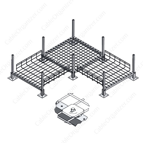 Raised Floor Cable Tray System AFF-GR-CLIP