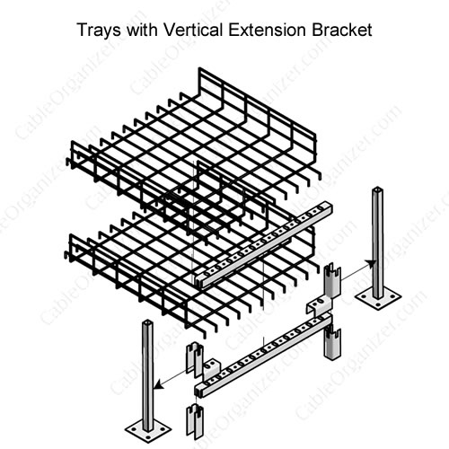 Raised Floor Cable Tray System AFF-AFVX4