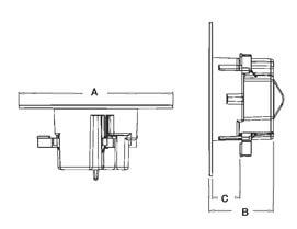 Cam-Light box drawing dimensions